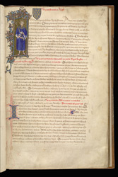 Decorated Letter: King John of France, in the Treaty of Chartres
